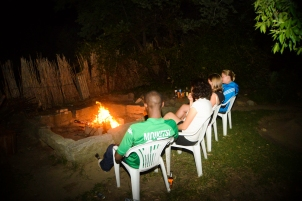 Fire pit and braai